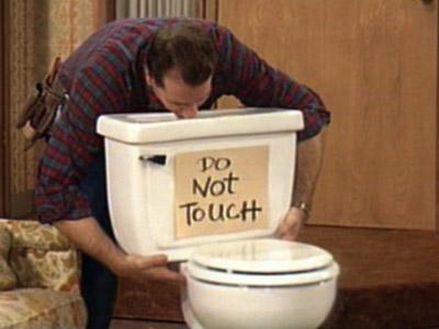 NaijaHusband Loves The Toilet just like Al Bundy