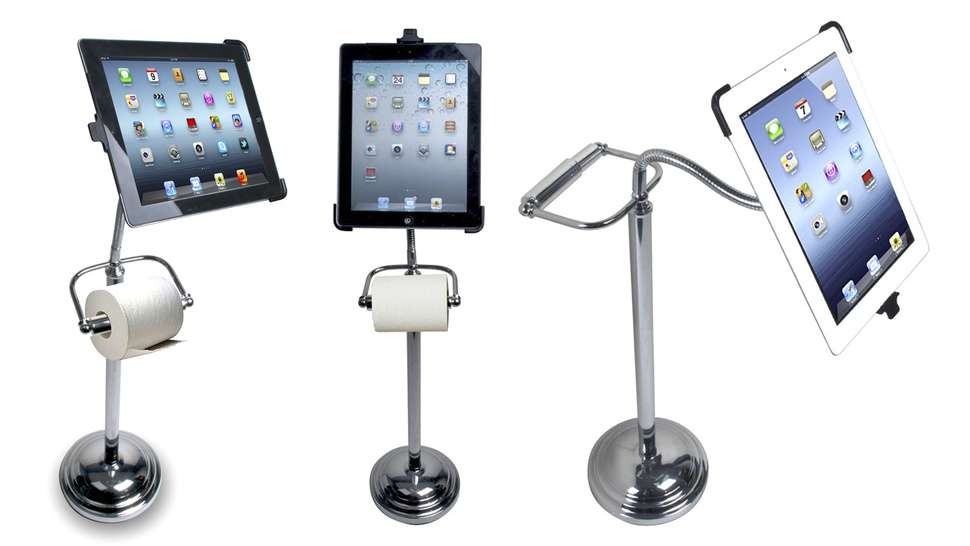 The IPAD stand made for Toilet lovers like Naija Husband