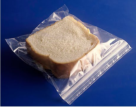 The way to get out of debt. Stealing food with your sandwich bag