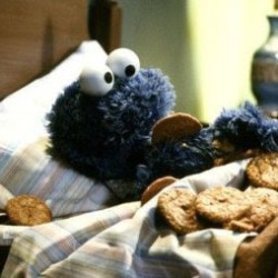 The moment I realized that I was married to cookie monster.